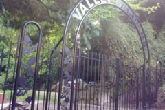 Beautiful wrought iron arch gates