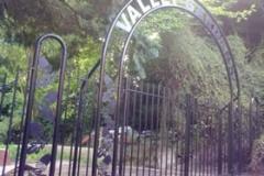 Beautiful wrought iron arch gates
